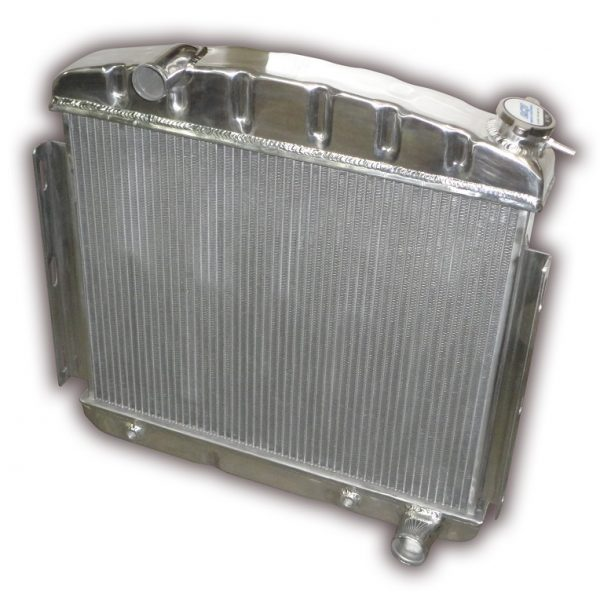 1957 Chevy Aluminum Radiator - 6 Cylinder Or Big Block Mounting - Automatic Transmission