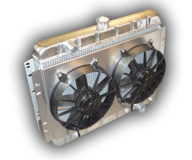 1966 - 1967 Chevelle SMALL BLOCK Aluminum Radiator With Dual Fans