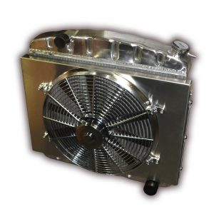 1957 Chevy 6 Cylinder Mount With 3300 CFM Chrome Electric Cooling Fan