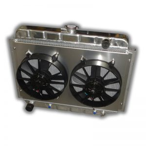 "1967 - 1974 Mopar Small Block 26"" Radiator - Dual 11"" HP Fans And Aluminum Shroud"