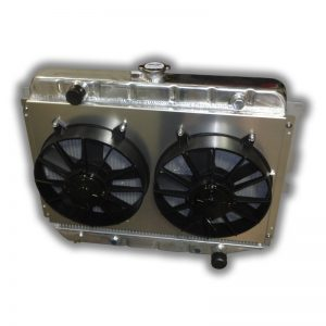 "26"" Big Block Mopar Radiator - Dual 11"" HP Fans And Aluminum Shroud"