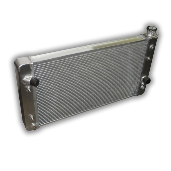 """1990 - 1994 Chevy S10 HD Aluminum Radiator - 2-rows of 1.0"""" Cooling Tubes"""