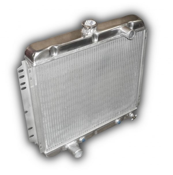 """1967 - 1970 Mustang Aluminum Radiator 22"""" DS Outlet"""