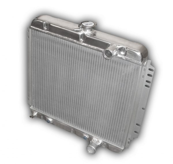 """1967 - 1970 Mustang Aluminum Radiator 22"""" PS Outlet"""