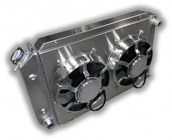 1979 - 1993 Mustang Aluminum Radiator Auto Trans - Dual HPX Fans